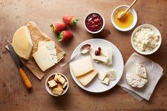 O queijo para o café da manhã negligencia o tiro Foto de Stock Royalty Free