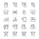 O quiosque dilui ícones ilustração stock