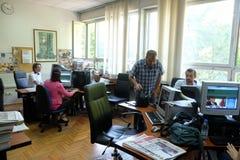 O rádio católico croata este ano comemorou 20 anos de transmissão em Zagreb Imagem de Stock