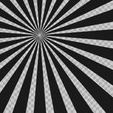 O radial abstrato da explosão do flash da banda desenhada alinha o fundo Raios da ilusão Elemento retro do projeto do Grunge do s ilustração royalty free