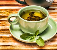 O rafrescamento do chá da hortelã representa o restaurante e os cafés dos bares imagens de stock royalty free