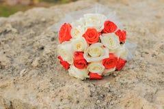 O ramalhete da noiva à moda Flor do casamento Fotos de Stock Royalty Free