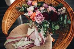 O ramalhete do ` s da noiva Foto de Stock Royalty Free
