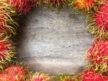 O Rambutan é um fruto delicioso foto de stock