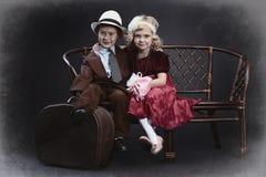 Crianças do vintage fotos de stock royalty free