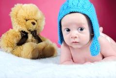 O rapaz pequeno com os olhos grandes Fotografia de Stock Royalty Free