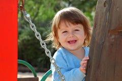 O rapaz pequeno no crianças \ 'playgroun de s imagens de stock royalty free