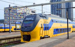 O rastro das Holandas da estação de trem Fotos de Stock Royalty Free
