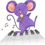 O rato canta o vetor Fotografia de Stock Royalty Free