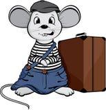 O rato desabrigado Fotos de Stock