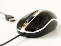 O rato do PC com USB isolou-se Fotos de Stock Royalty Free
