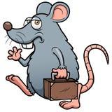 O rato dos desenhos animados sai Foto de Stock Royalty Free
