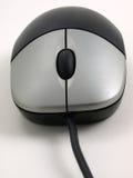 O rato preto com prata abotoa a vista dianteira Fotografia de Stock