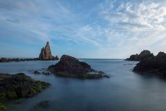O recife das sereias no cabo de gata Fotos de Stock Royalty Free