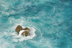 O recife no mar Foto de Stock