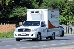 O recipiente pegara o caminhão de KCG Kim Chua Group Foto de Stock Royalty Free