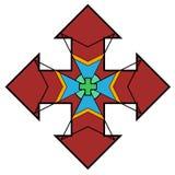 O recolhimento do positivismo espalhou all over do logotipo do mundo ilustração do vetor