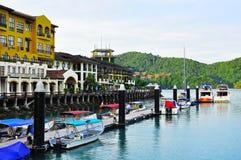 O recurso do malai de Porto do awana em Langkawi fotografia de stock