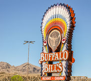 O recurso e o casino de Buffalo Bill foto de stock