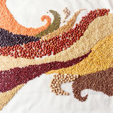 O redemoinho acena com leguminosa e cereais Imagens de Stock Royalty Free