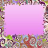 O redemoinho do fundo colore o frame do enigma Imagens de Stock Royalty Free