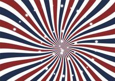 O redemoinho radial com efervescência stars o fundo do vetor Foto de Stock Royalty Free
