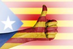 O referendo da independência é esperado ser realizado em Catalonia Imagem de Stock