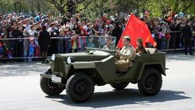 O regimento imortal da ação na parada da vitória Foto de Stock Royalty Free