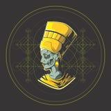 O rei de Egito ilustração royalty free