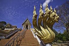 O rei de Nagas no templo de Khaokalok Foto de Stock Royalty Free