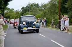 O rei de Sweden conduz seu carro velho do temporizador Foto de Stock Royalty Free