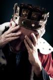 O rei falhado do negócio fotografia de stock royalty free