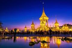 O rei real Rama 9 da cremação imagens de stock royalty free