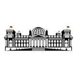 O Reichstag de Berlim Fotos de Stock Royalty Free