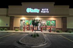 O'Reilly Auto Parts at night Stock Photography