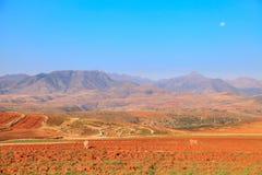 O reino de Lesoto, casa do Basotho fotografia de stock