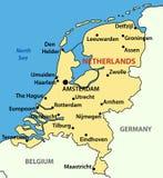 O reino dos Países Baixos - vetor Foto de Stock Royalty Free