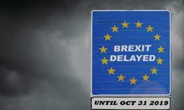 O Reino Unido é ajustado para estender deixar a UE através do artigo 50 até o 31 de outubro de 2019 - BREXIT imagens de stock royalty free