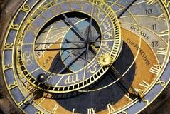 O relógio astronômico de Praga fotos de stock royalty free
