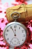 O relógio de bolso conta para baixo Foto de Stock Royalty Free