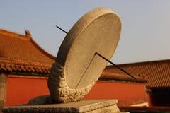 O relógio de sol equatorial Fotos de Stock