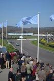 O relógio do espectador a ação da raça em Goodwood Foto de Stock Royalty Free