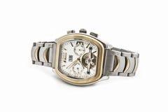 O relógio dos homens contínuos suíços Fotografia de Stock