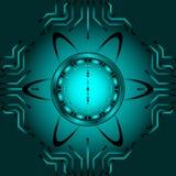 O relógio atômico Imagens de Stock