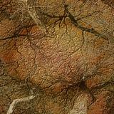 O relevo gravou o fundo da textura gerada de madeira com ramos e árvores Fotografia de Stock