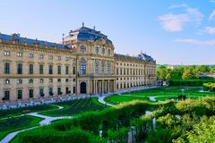O Residenz de Wurzburg, Alemanha Foto de Stock Royalty Free