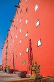 O resort de montanha de Chengde na província de Hebei Putuo pelo templo do vermelho e o envoltório elevam-se Imagem de Stock