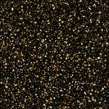 O respingo do ouro ou as lantejoulas douradas vector o teste padrão sem emenda Fotografia de Stock