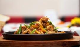 O restaurante da foto da tabela da carne do alimento disparou em 7 foto de stock royalty free
