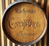 O restaurante de Greystone do espectador do vinho no instituto culinário de América Imagens de Stock